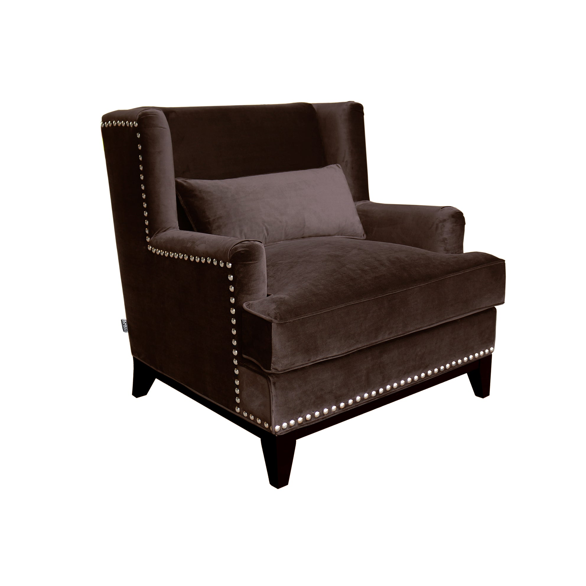 Adora Armchair Brown Velvet