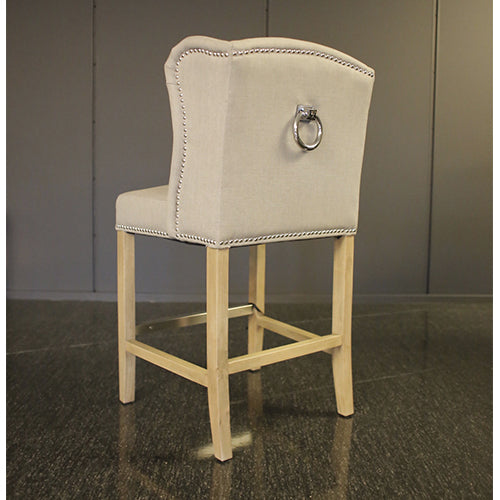 Luxury Bar Chair Grey Linen  UTSTILLING