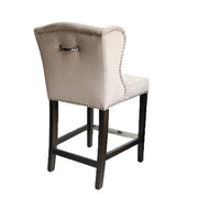 Deluxe Bar Chair Beige Velvet