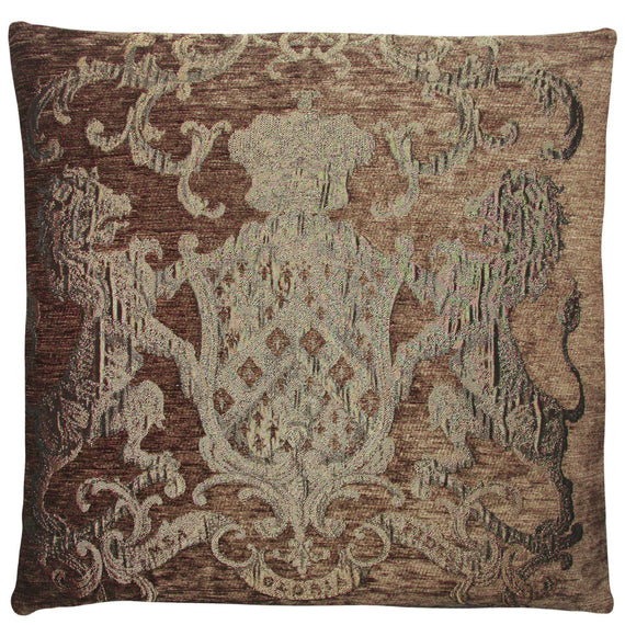 Cushion Fiori Brown/Gold