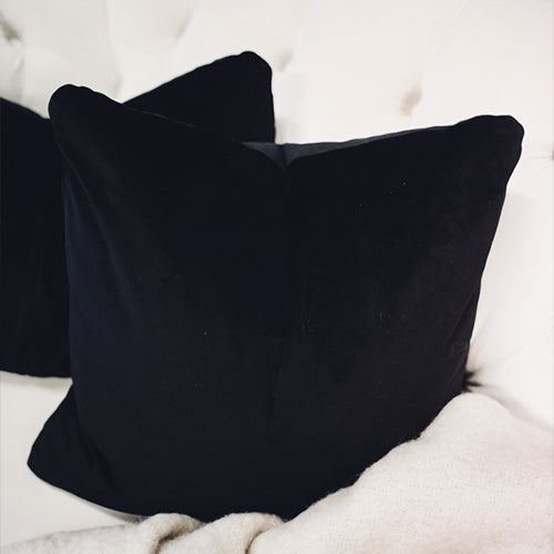 Black Velvet Square Cushion