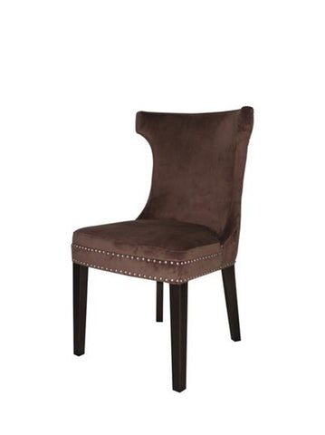 Fellini Dining Chair Brown Velvet