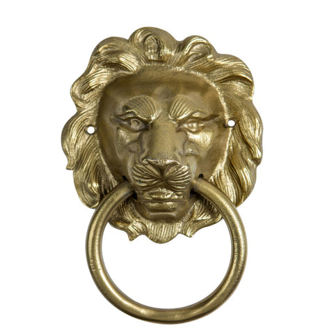 Lion Door Knocker Gold