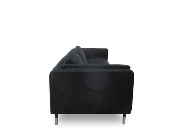Luxor sofa sort velour INTROTILBUD