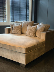 Deluxe Daybed Beige Velour INTROTILBUD