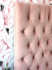 Headboard Children Pink Velvet