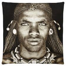 Samburu Warrior Kenya Cushion