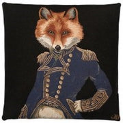 Forest Deer and Fox Cushion  2 stk Black