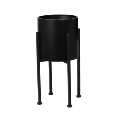 Black Luxe Flower Pot S