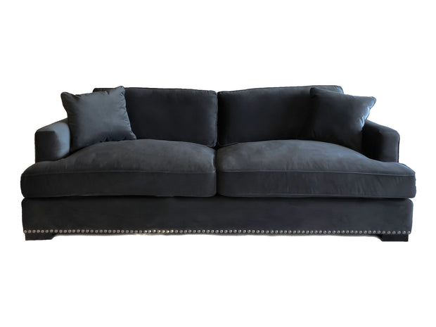 Magnolia Sofa Dark Grey Velvet