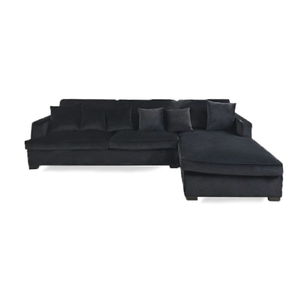 Magnolia Sectional Black Velour (venstrevendt)