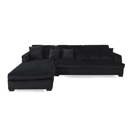 Magnolia Sectional Black Linen