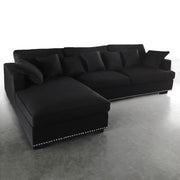 Magnolia Sofa m/sjeselong Sort Velour