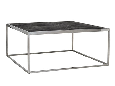 Coffee Table Blackbone Oak Silver 90 cm