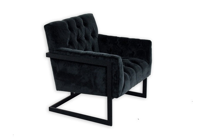Avalon armchair black velvet
