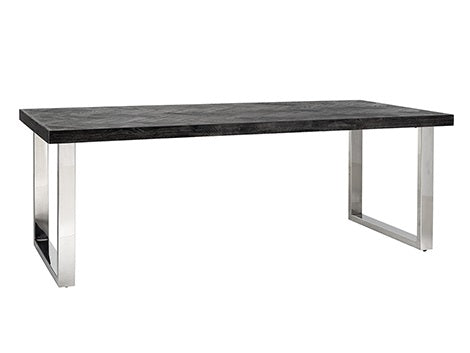 Dining table Blackbone Oak silver 220