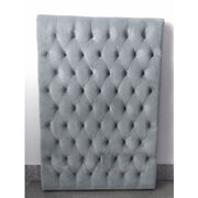 Headboard Children Grey Velvet
