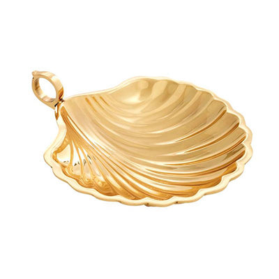 Dish Cedar Shell Gold Small