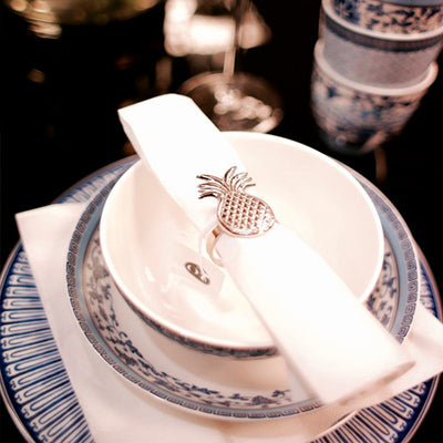 Napkin Ring Tropical Silver