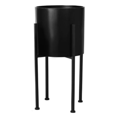 Black Luxe Flower Pot L