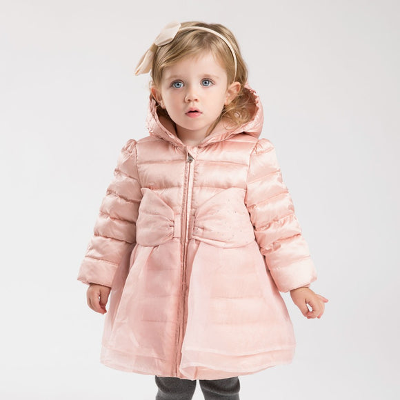 Girls ruffle winter down jacket boutique outerwear