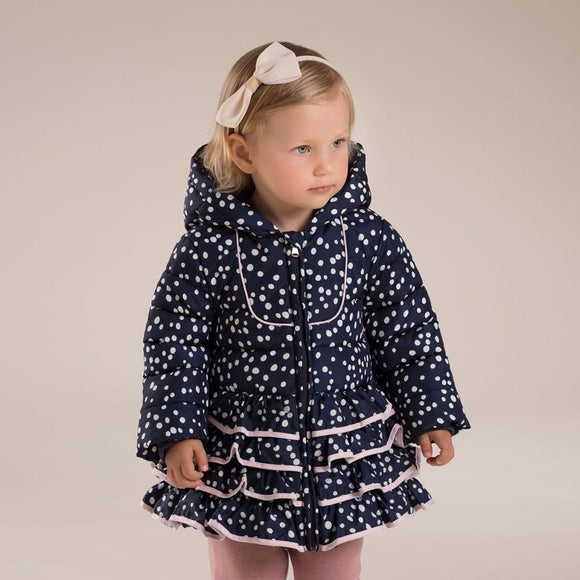 Baby girl floral jacket winter outerwear jacket with ruffle