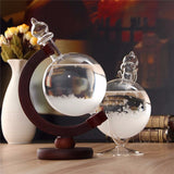 Free SHIPPING TO USA via ePacket -  Weather Forecast Crystal Wooden Glass Christmas Gift