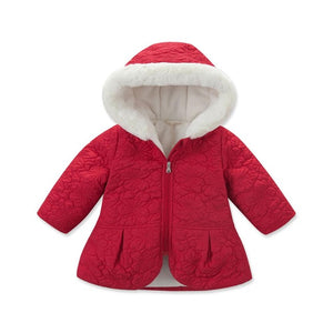 autumn baby girls red pink outerwear