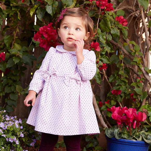 Baby Girl Birthday Clothes Dots Purple Dress