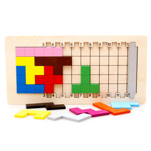 Mindlab Collection - Baby Educational Toys Katamino Blocks Wood Learning Tetris Blocks Tangram