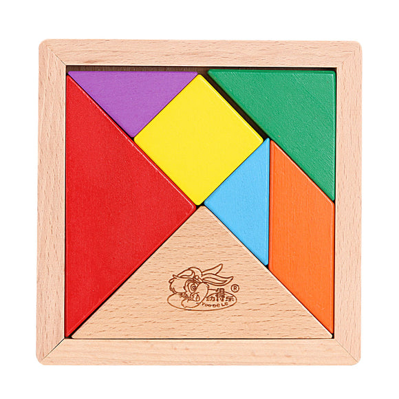 Mindlab Collection Baby Tangram Wooden Toys Brain Teaser