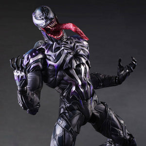 Toy - Venom 1pcs 28cm The Amazing Spiderman Play Arts Kai Action Figure Marvel Collection