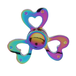 Fidget Toy - Love Heart Fidget Spinner Rainbow Whirlwind Shaped Alloy Hand Spinner Figet