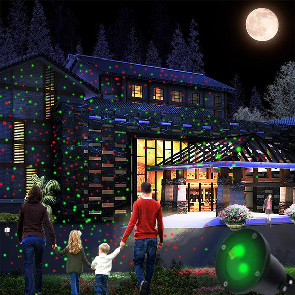 Waterproof Christmas Lights Red Green Moving Twinkle Outdoor Projector