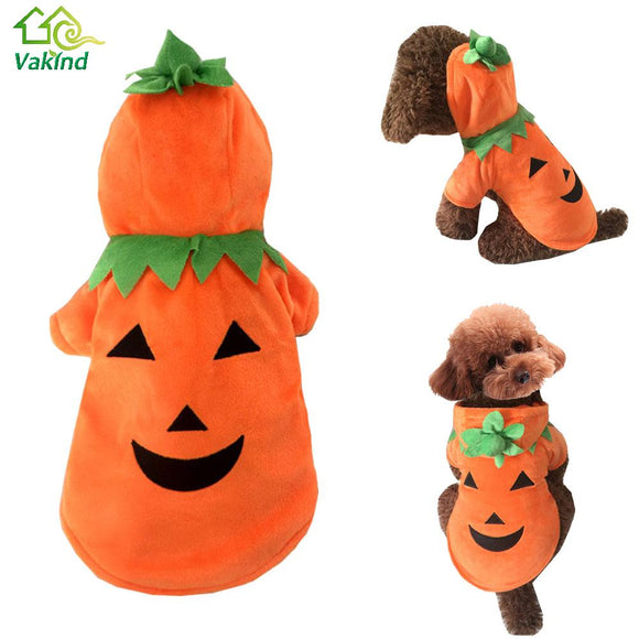 Halloween Pet Costume Pumpkin Dog Coat Winter Dog Clothes For Small DogChristmas Pet Supplies S/M/L/XL