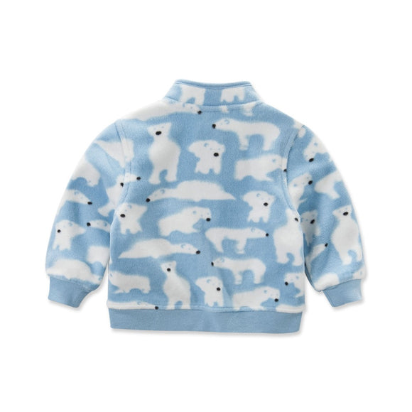 Baby Boys White Bear Coat Outerwear