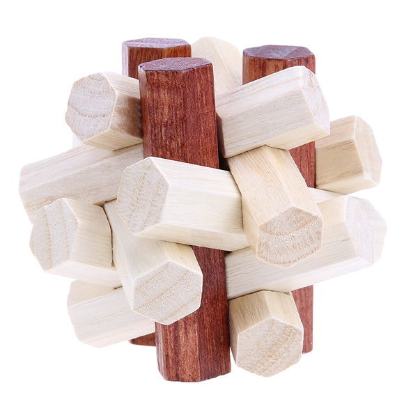 Mindlab Collection - Tangram  Kongming Luban Lock Chinese Traditional Toy 3D Wooden Puzzles