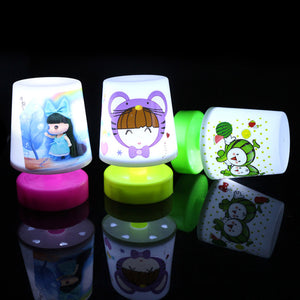 Mini LED NightLights Light-Up Toys Cartoon Design Small Cute Pat Light Table Lamp Colorful Led Night Light Best Present For Kids