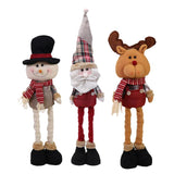 New Year Decor Extend Santa Claus Snowman Reindeer Doll Christmas Decoration Xmas Tree Hanging Ornaments Pendant Kids Gifts