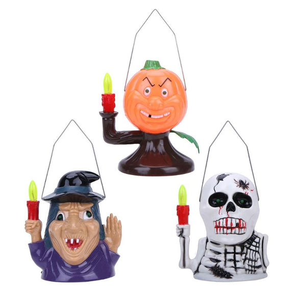 Pumpkin/Witch/Skull Light Haunted House Decoration Lights Halloween Props Ghost Shouting Portable Lamp Indoor Outdoor Lights