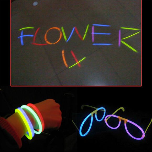 Kids Children Funny Baby Toys Glowsticks 100pcs Glow in the Dark Light Sticks Glowstick Xmas Christmas Party Neon Sticks Toy