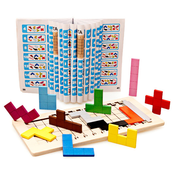Minlab Collection - Tangram Toys for Children Kids Wooden Puzzles Brain Teaser
