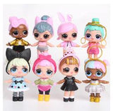Free Shipping via ePacket - 8PCS Dressing LOL SURPRISE DOLL Baby
