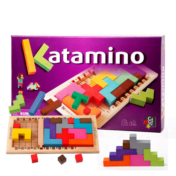 Mindlab Collection - Wooden Toy Katamino Blocks Wood learning &Children toys