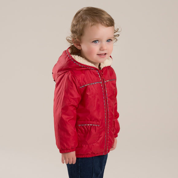 autumn winter baby girls red hooded coat