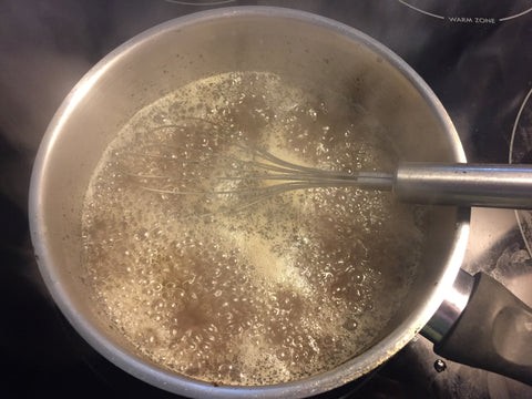 Boiling vanilla simple syrup