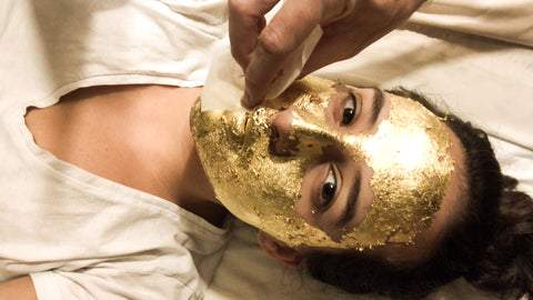 gold leaf face mask