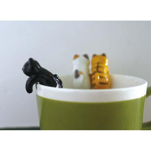3D Tea Spoon | Black Cat