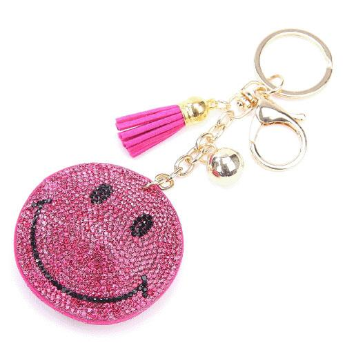 Smiley Keychain | Pink