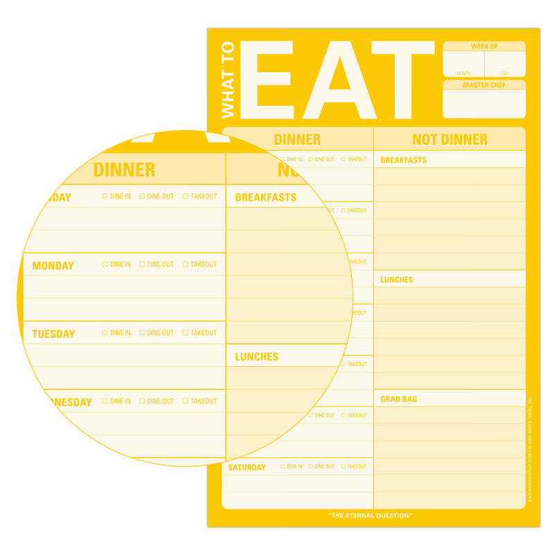 What to Eat Pad (with magnet)